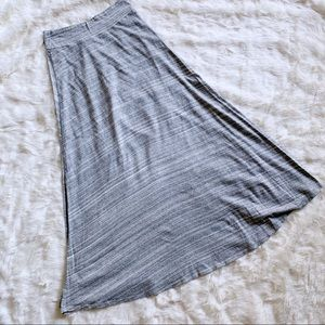 Gap Factory Heather Gray Maxi Skirt